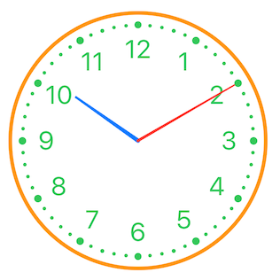 Clock View with Classic style and some colors changed