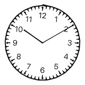Clock View with Drawing style