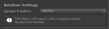 UltimateSpawner - Rotation Settings - Identity