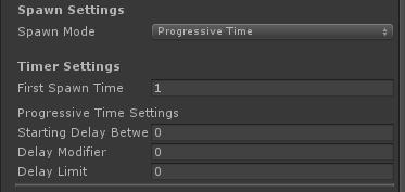 UltimateSpawner - Spawn Settings - Progressive Time