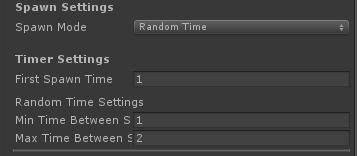 UltimateSpawner - Spawn Settings - Random Time