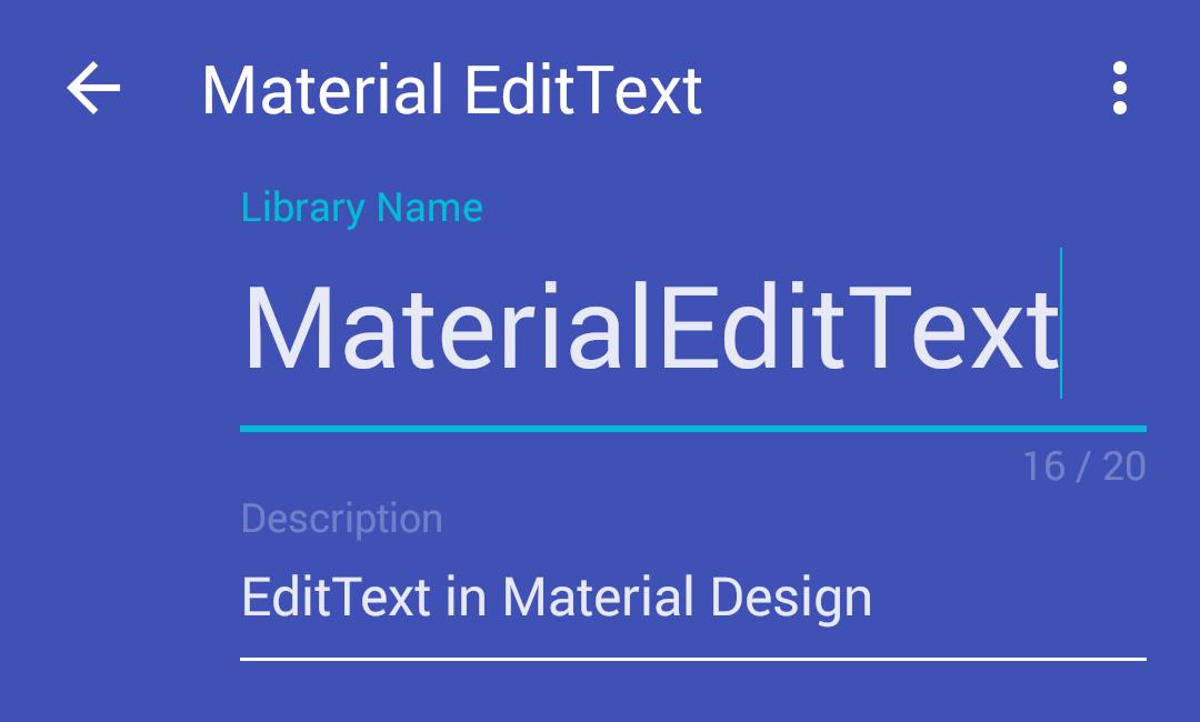 MaterialEditText