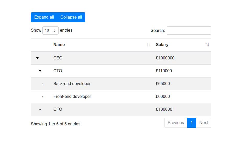 Screenshot of plugin in use