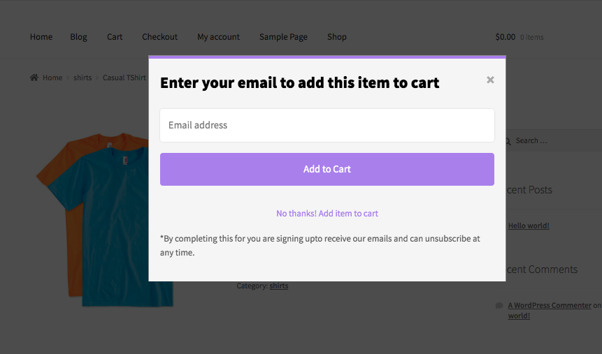 Add to Cart Popup for WooCommerce