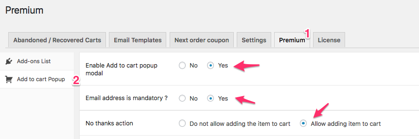 Email Collection Add to Cart popup