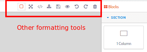 Other formatting tools