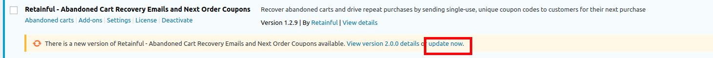 Update button