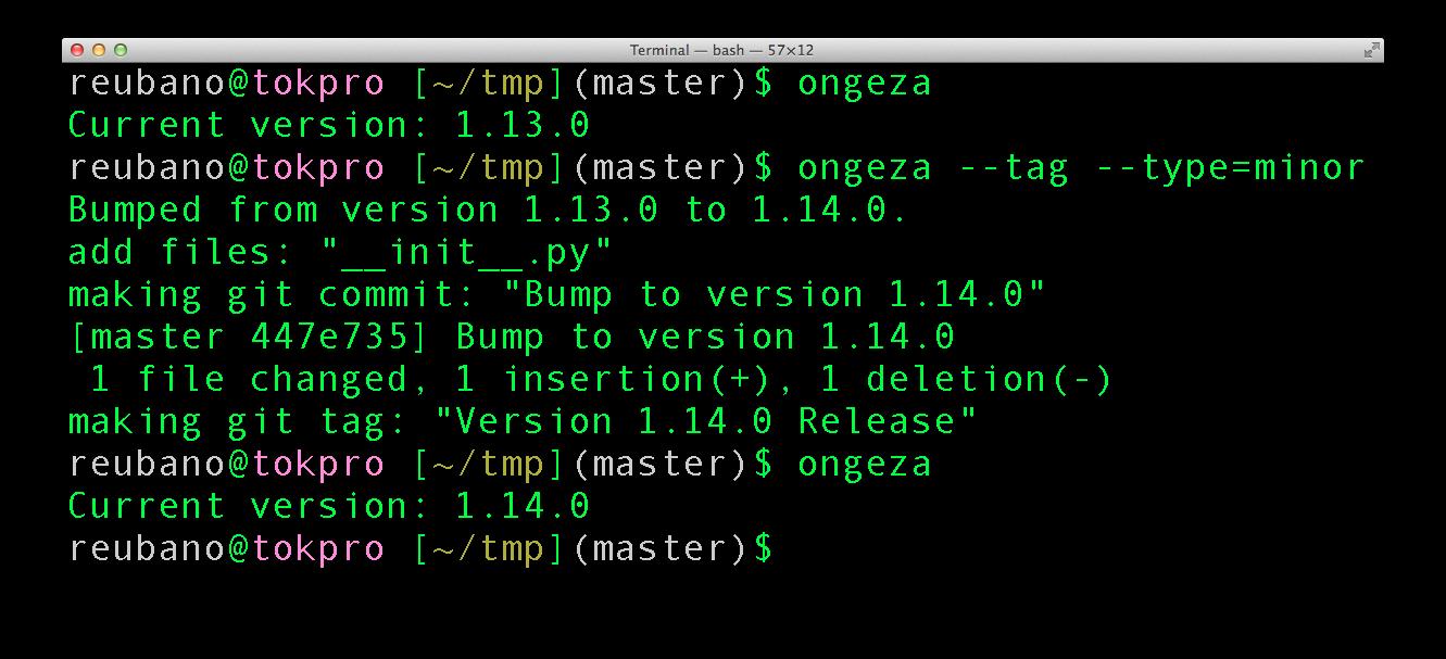 sample ongeza usage