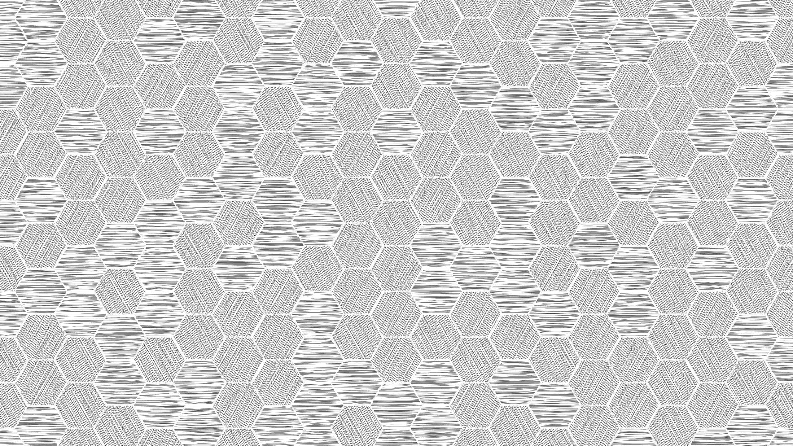 C Sketchy Hex Pattern