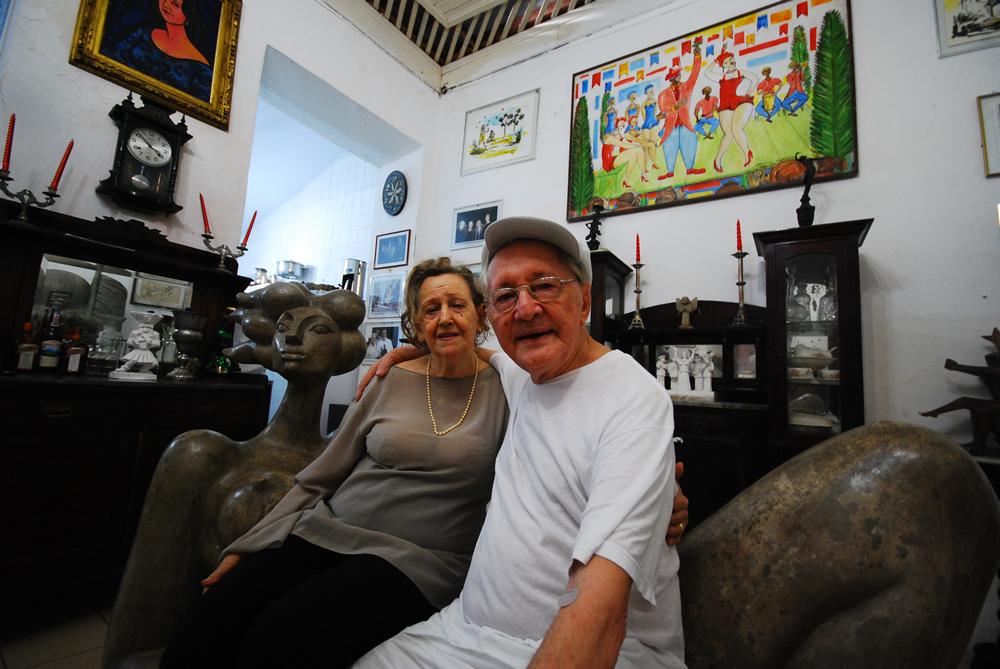 Abelardo da Hora e sua esposa Margarida (Foto: Belisa Parente/ Revista Zena)