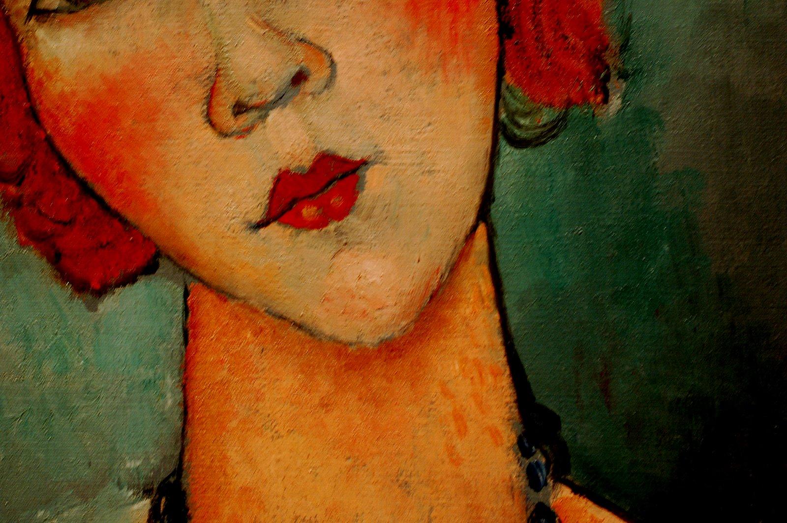 Eu Não Me Economizo - Woman with a Necklace (Pintura de Amedeo Modigliani, 1917)