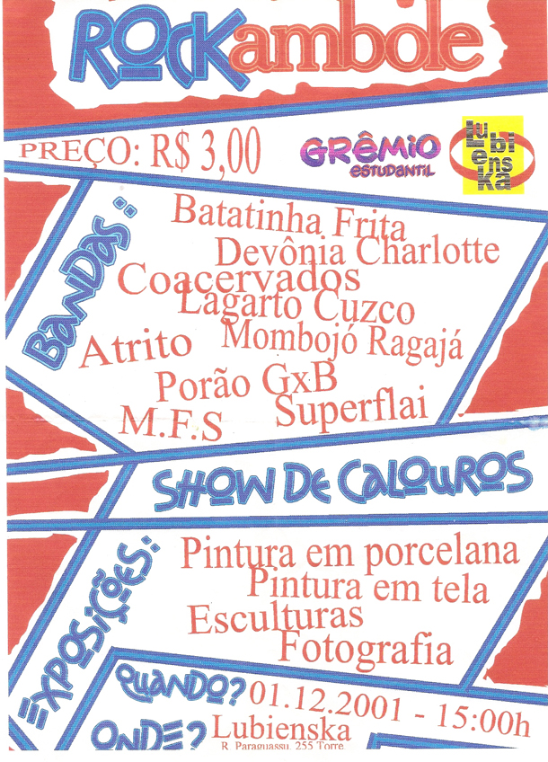 Cartaz do 'festival' Rockambole (2001)