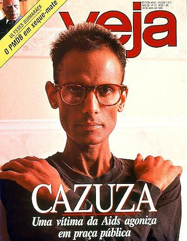 Cazuza, Revista Veja (26 de abril de 1989 / Reprodução da Internet)