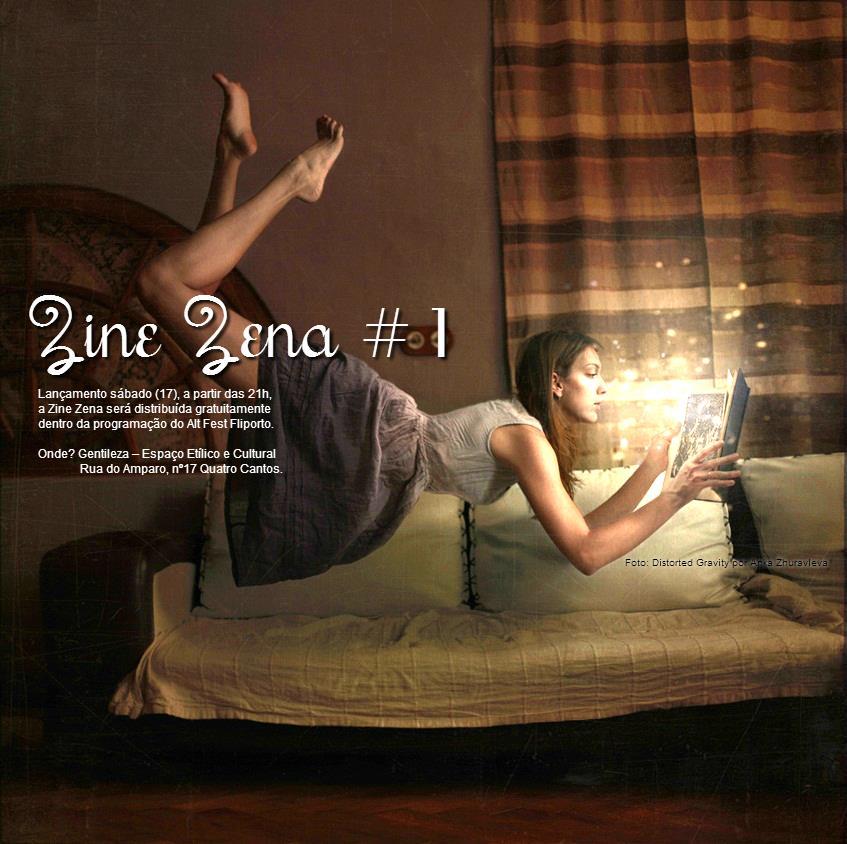 Convite do lançamento do Zine Žena # na Fliporte 2012