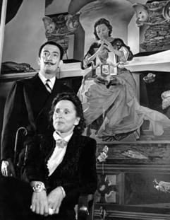 Salvador Dalí e sua esposa, Gala (Foto: Divulgação)