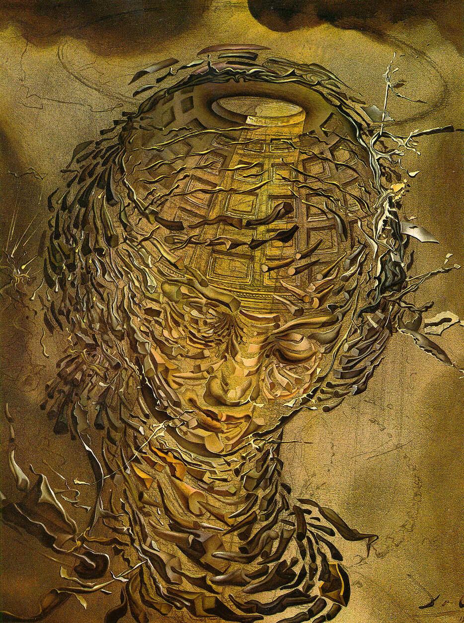 Salavdor Dalí – Cabeça Rafaelesca Estalando (1951)