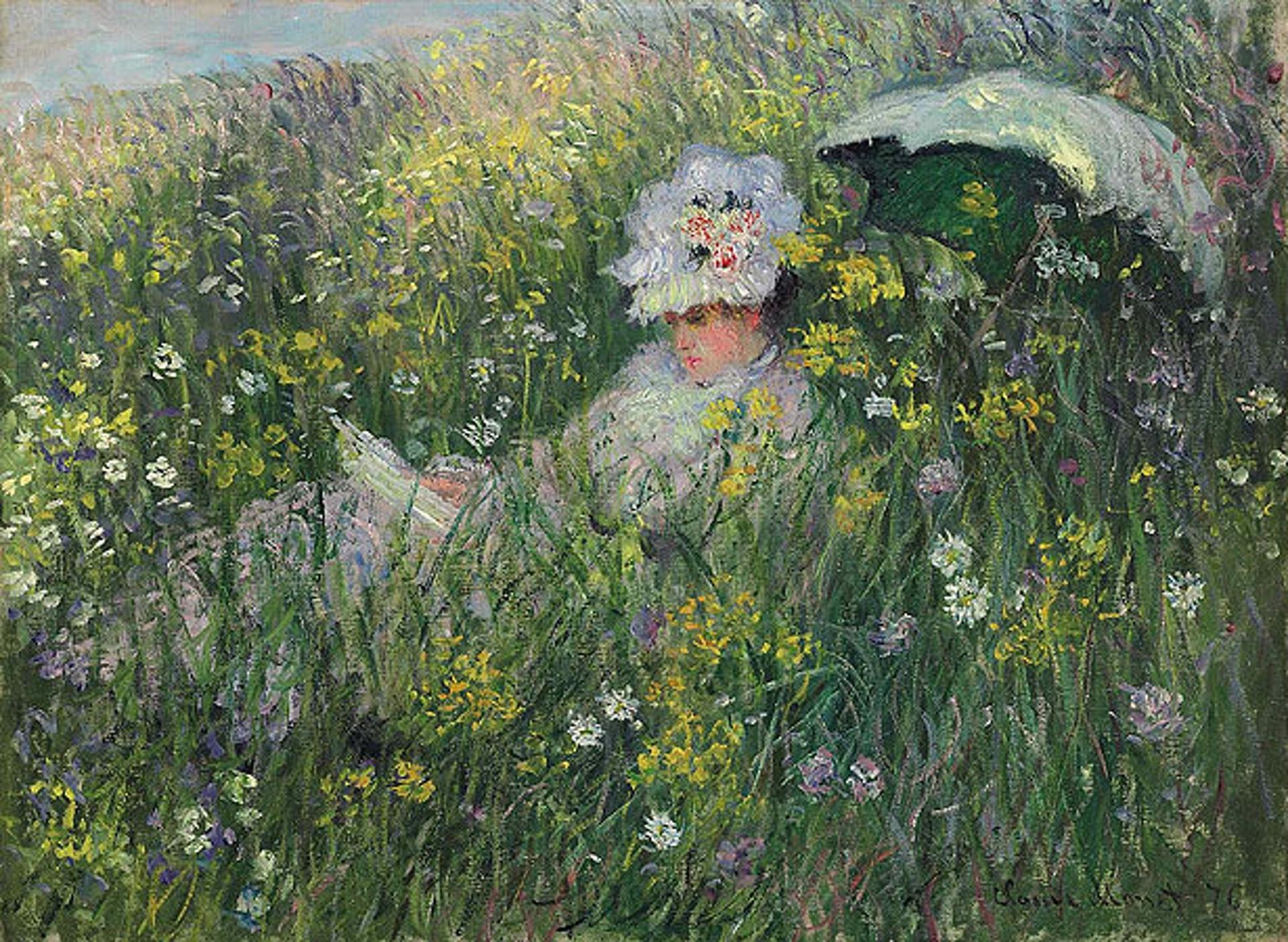 A Santa Poesia da Mulher Amada - Dans la prairie (Pintura: Claude Monet)