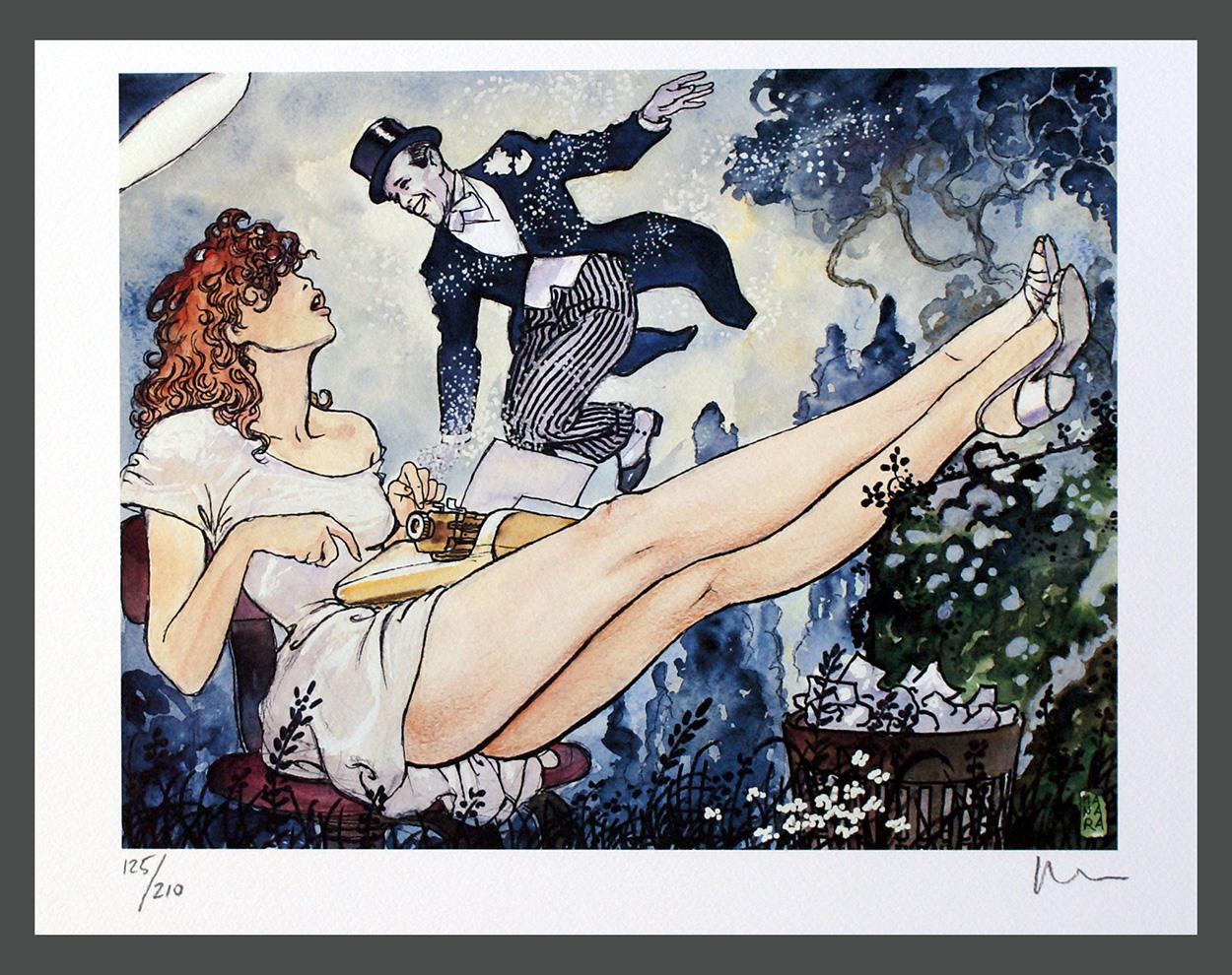 Folheie o mundo e marque sua vida - Fred Astaire (Arte de Milo Manara)