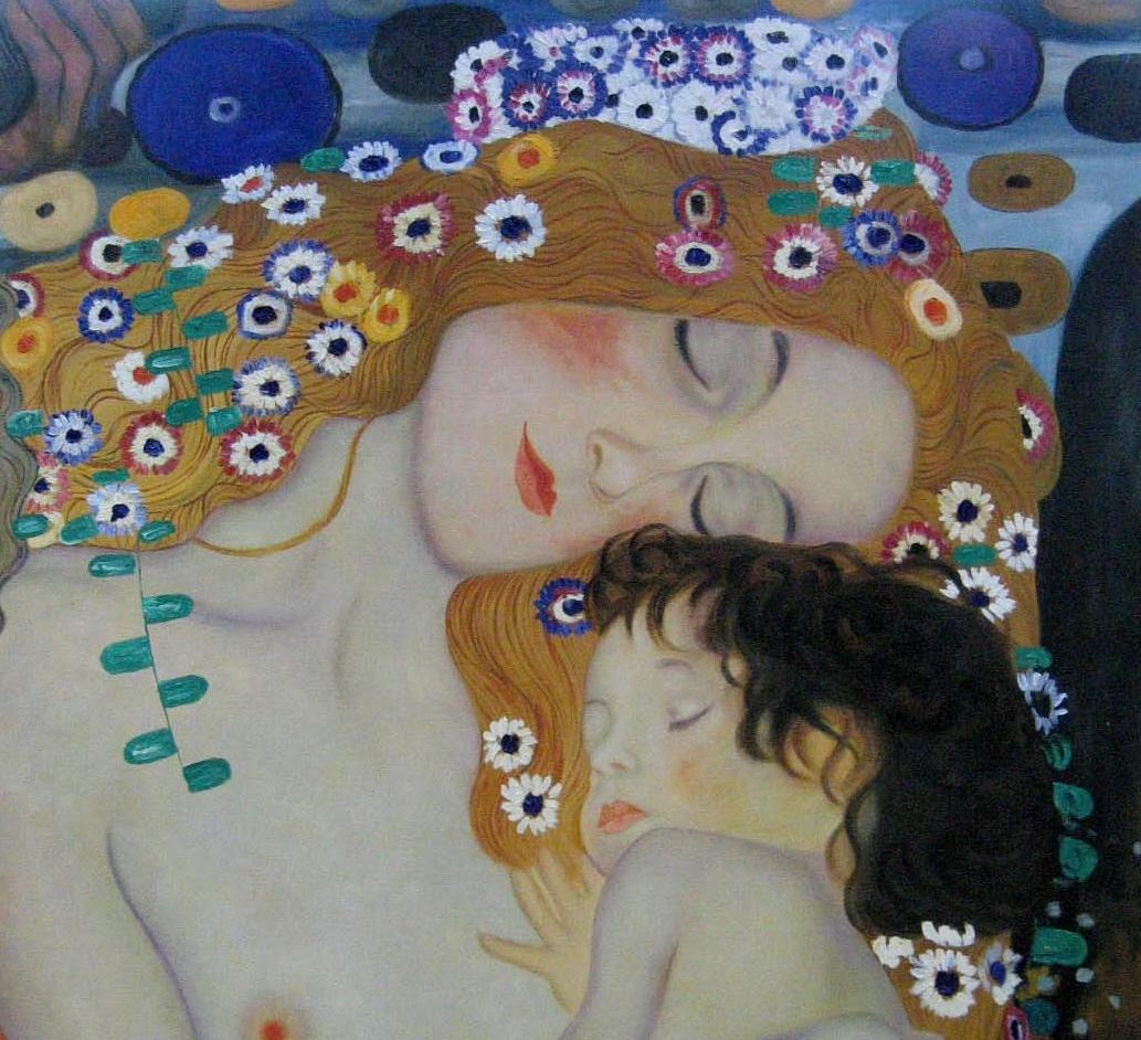 Rita - Mother and Child (detalhe da pintura, Three Ages of Woman - Gustav Klimt)