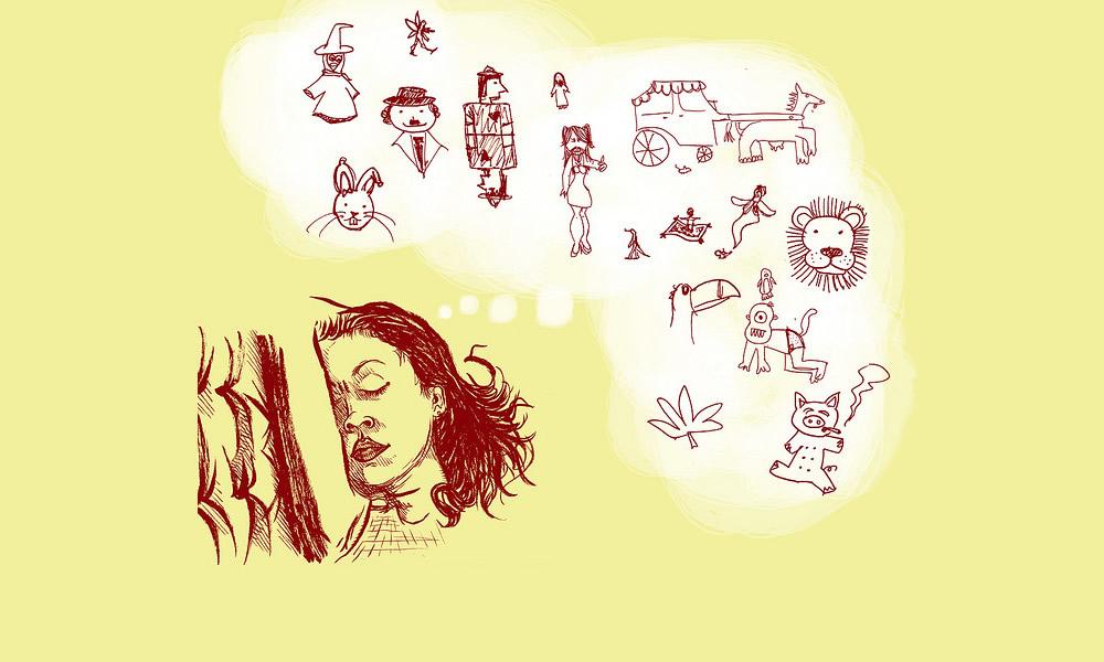 Entre tosses e vovó, a mãe - Ilustração de Alexandre Dantas