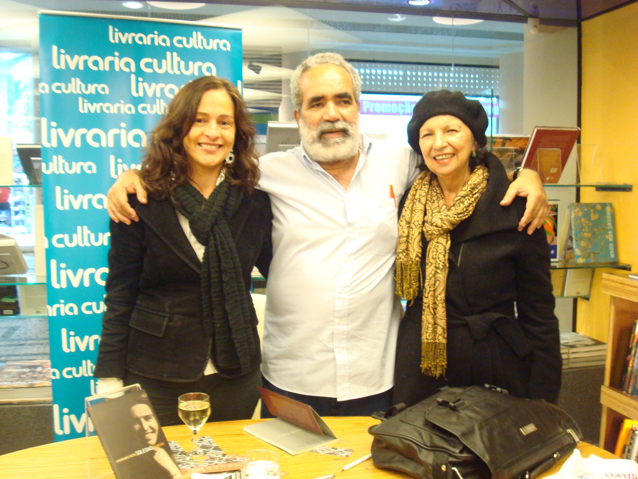 Entrevista Urariano Mota - Ivana Jinkings, Urariano, Rose Nogueira (Foto: Luanda Calado/ Divulgação)