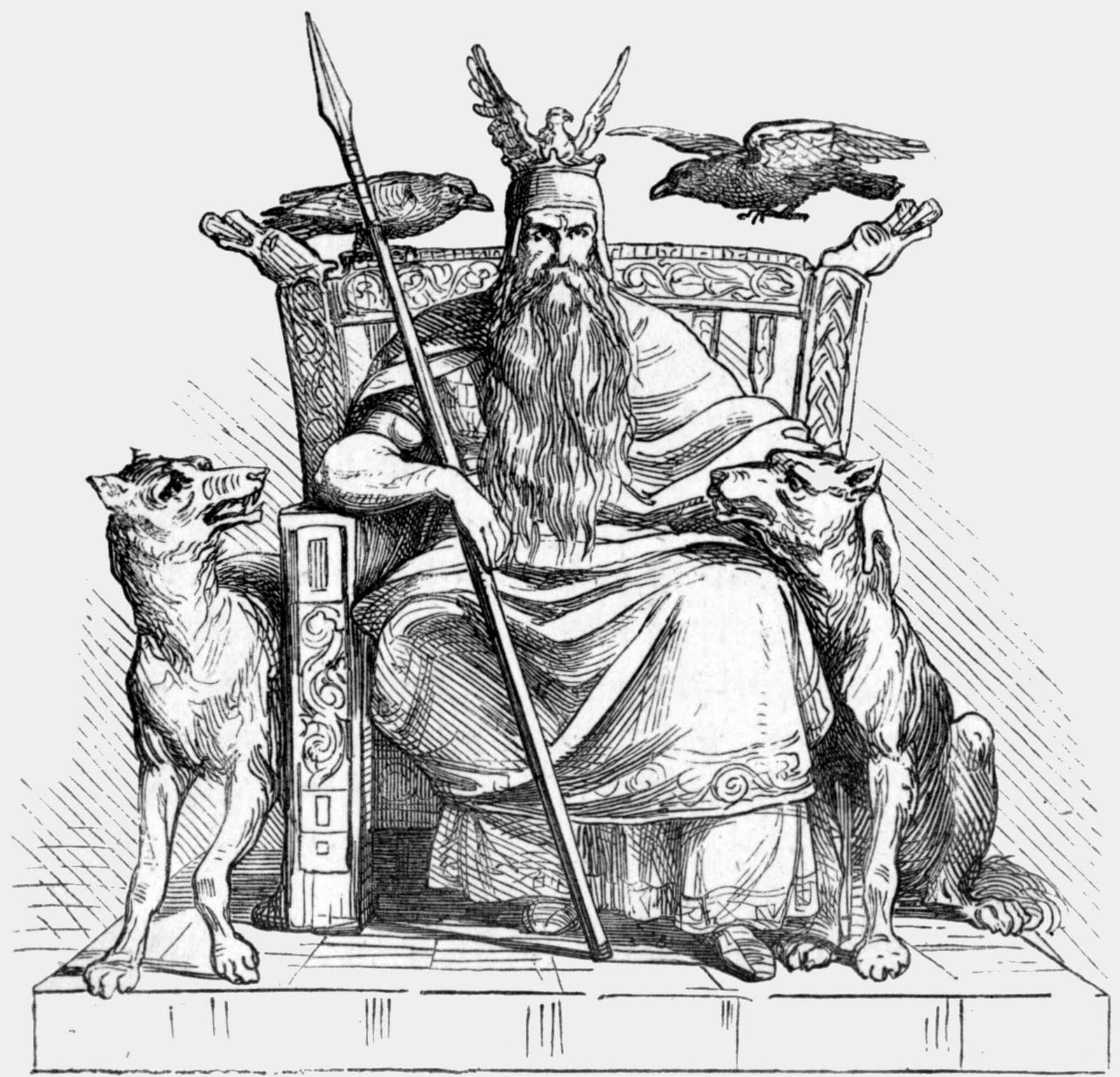 Odin: Um deus no caminho da vida e além desta - Odin (Ilustracao de Ludwig Pietsch, 1865)