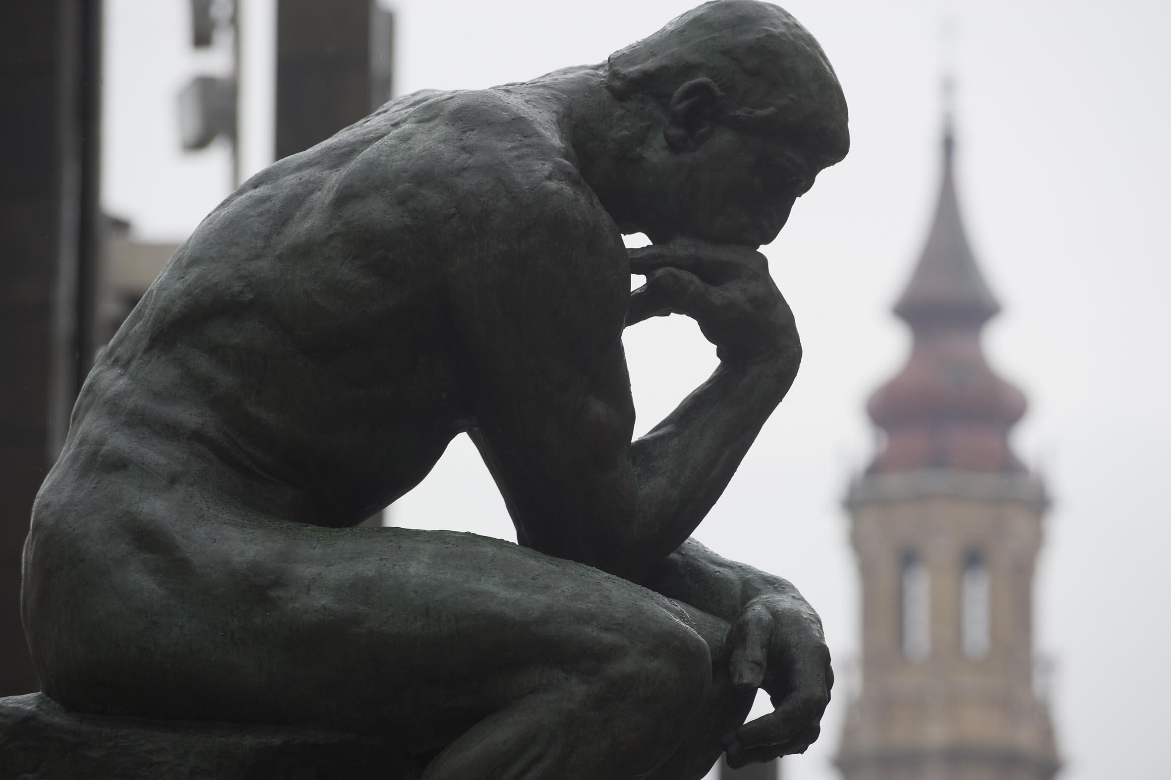 Cogito, ergo sum - Estátua de François-Auguste-René Rodin (1902), O Pensador