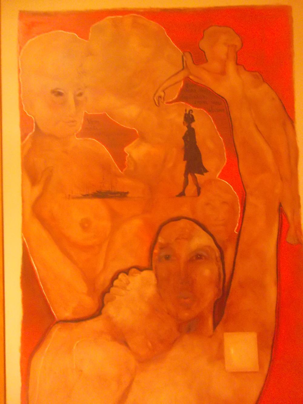 """""""Preferência"""". Óleo sobre Eucatex. 120 x 80cm. 2007. Coleção Particular Armando Garrito (Foto Belisa Parente)"""