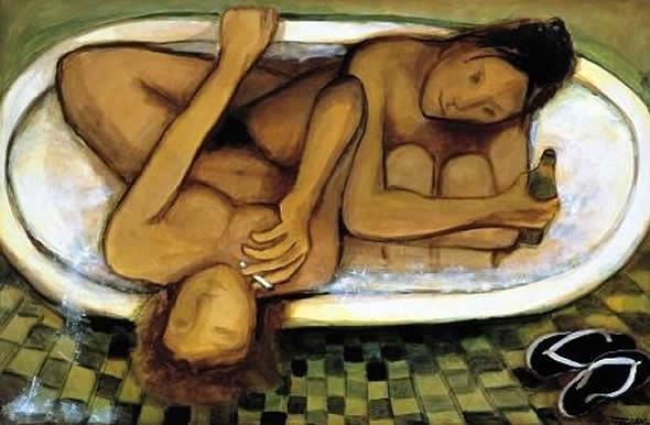 Quais suas exigências? - Quadro pintado por Tereza Costa Rêgo