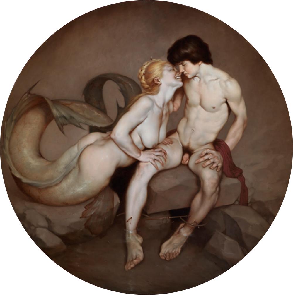 Machinhos - Salamence e Hermafrodito (Pintura de Roberto Ferri)