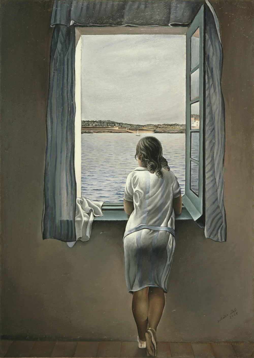 O Rio e O Mar - Girl at the Windows (Pintura: Salvador Dali, 1925)