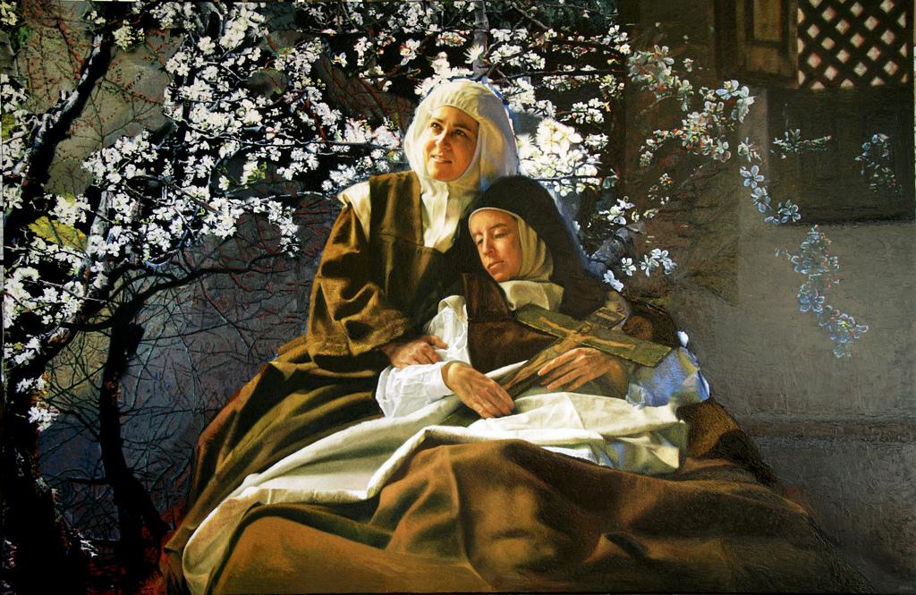 Uma monja - Y El Almendro Floreció (Pintura de Isabel Guerra)