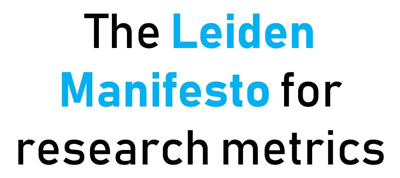 LeidenManifesto