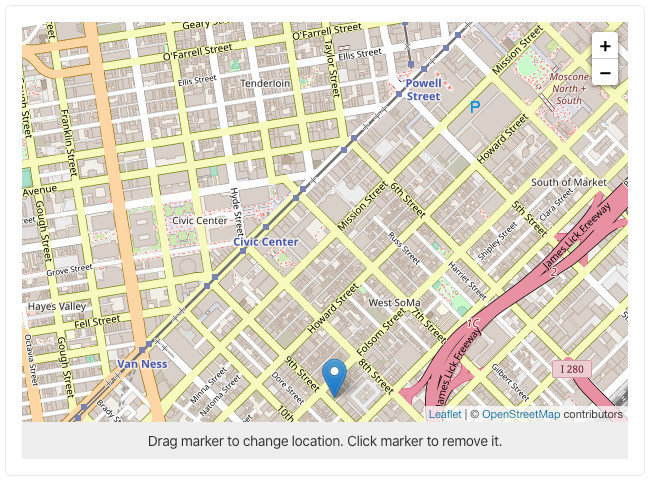 sanity-plugin-leaflet with OpenStreetMaps