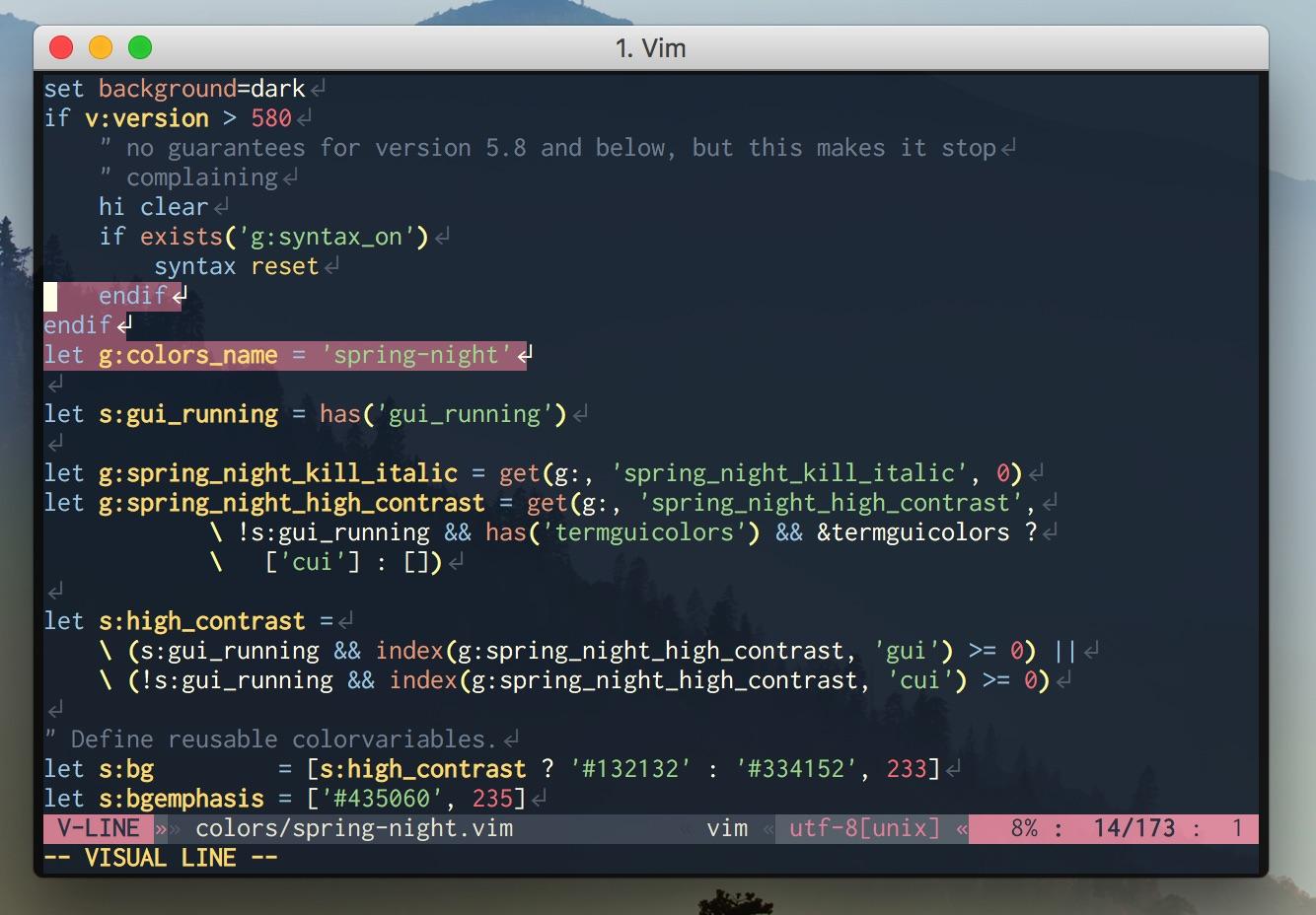 Vim script on Vim (24bit color)