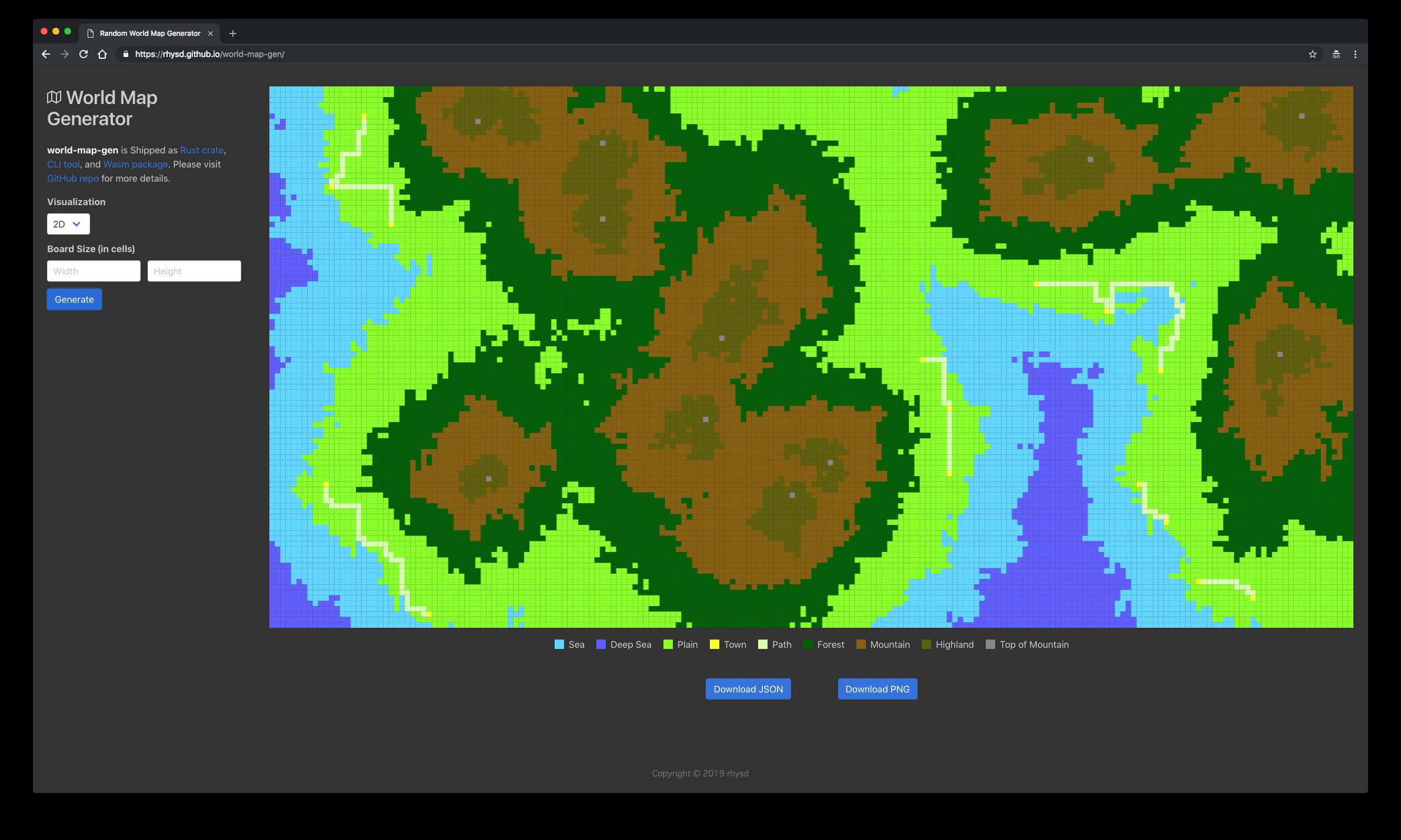 screenshot of 2D map