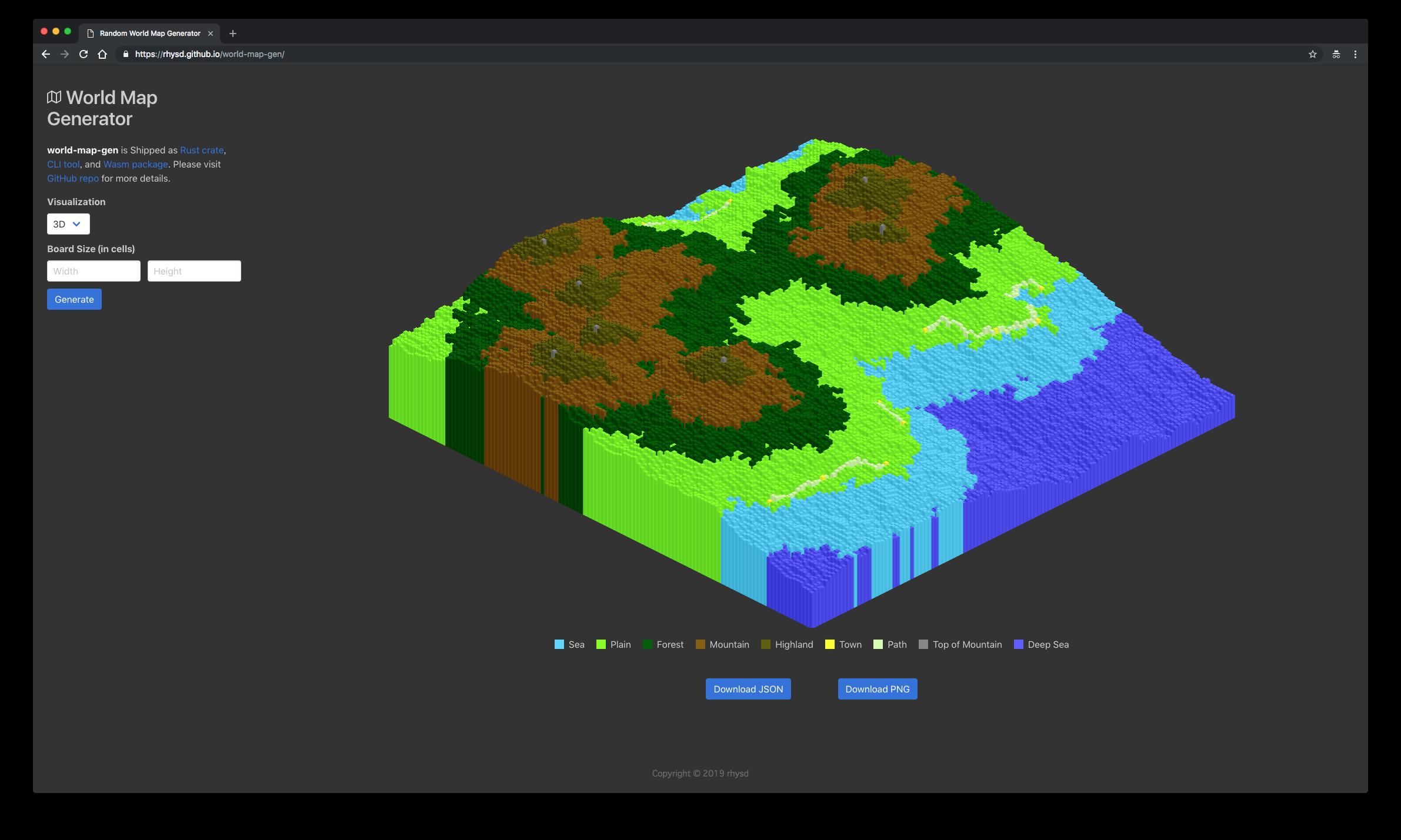 screenshot of 3D map