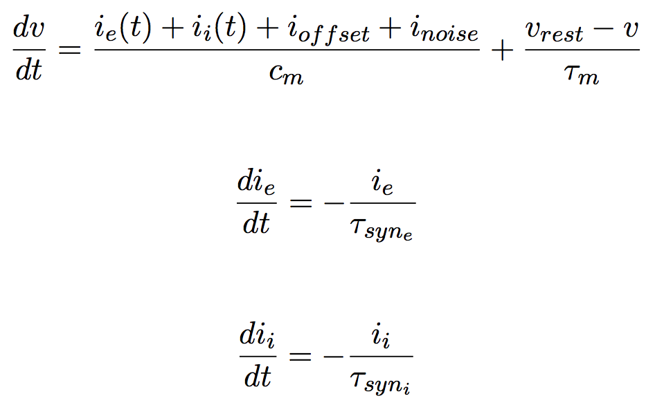 Leaky Integrate and Fire with Exponential Synapses