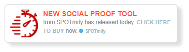 spotmify fomo social proof marketing in white color