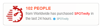 spotmify social proof marketing to display purchasing statistic