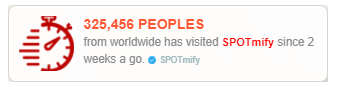 spotmify social proof marketing to display visitors statistic
