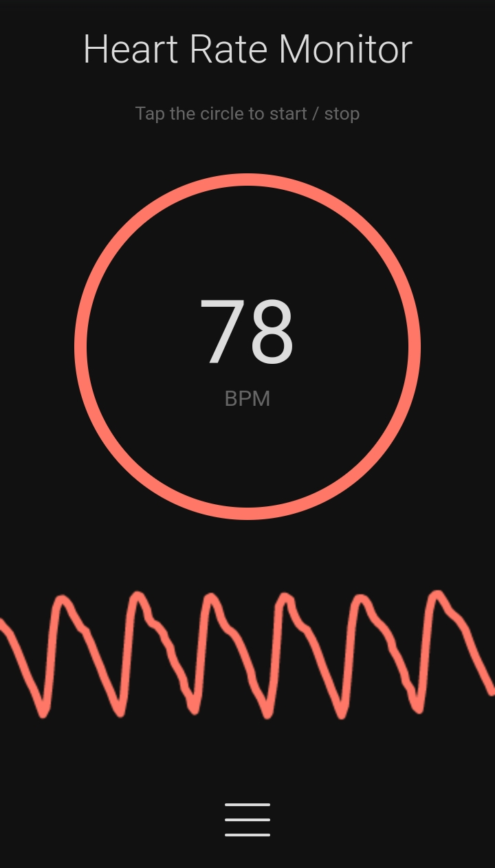 Heart Rate Monitor Screenshot