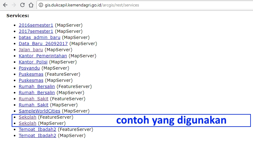 ArcGIS Server Dukcapil