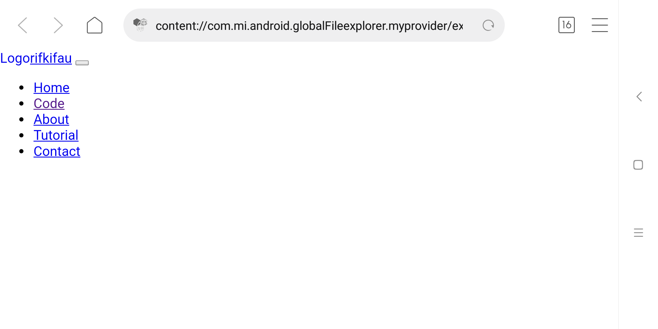 Cara Membuka Local Offline Index html webgis webmap di Browser Smartphone