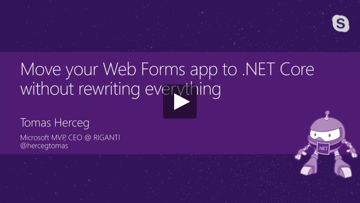 Move your Web Forms app to .NET Core without rewriting everything