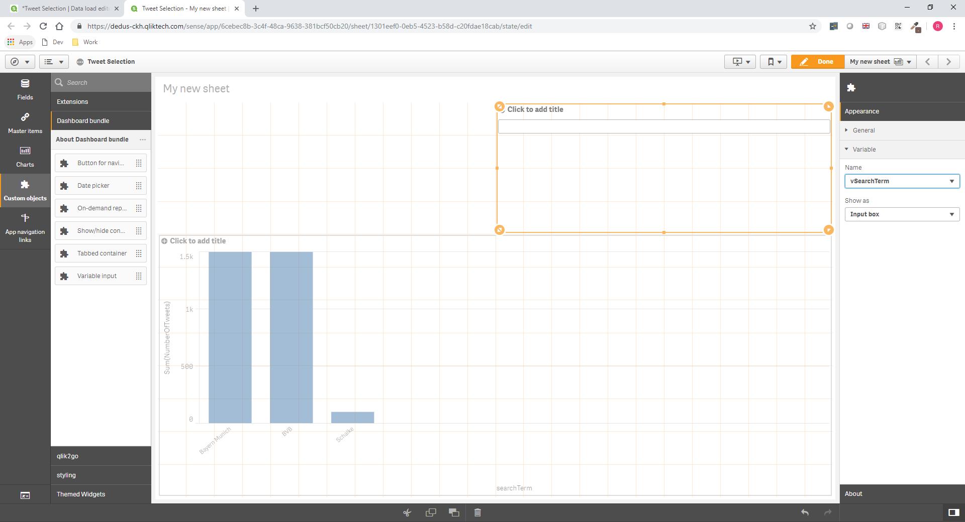 GitHub - rileymd88/odag-variable: a Qlik Sense extension