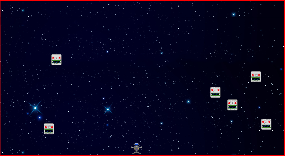 To run this game simply clone or download this repository and then open  spaceshooter.html using any web browser.