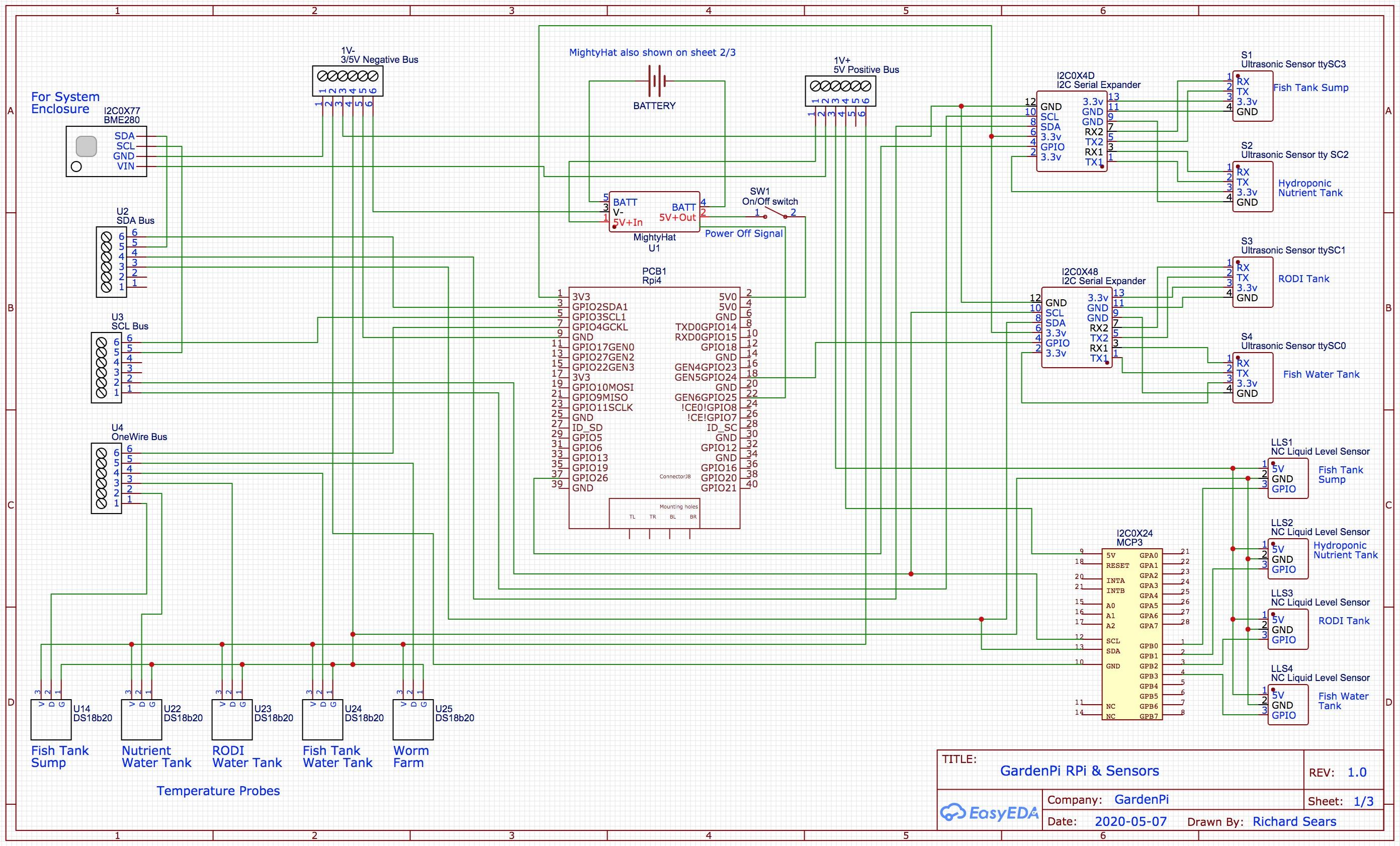 GardenPi Schematics Page 1