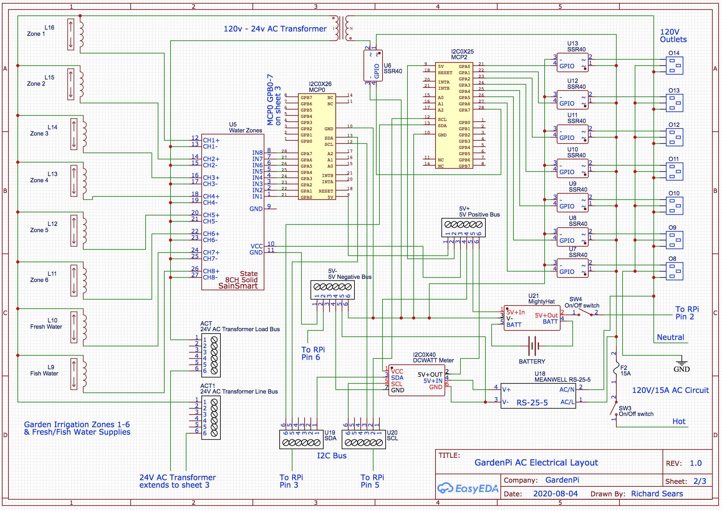 GardenPi Schematics Page 2