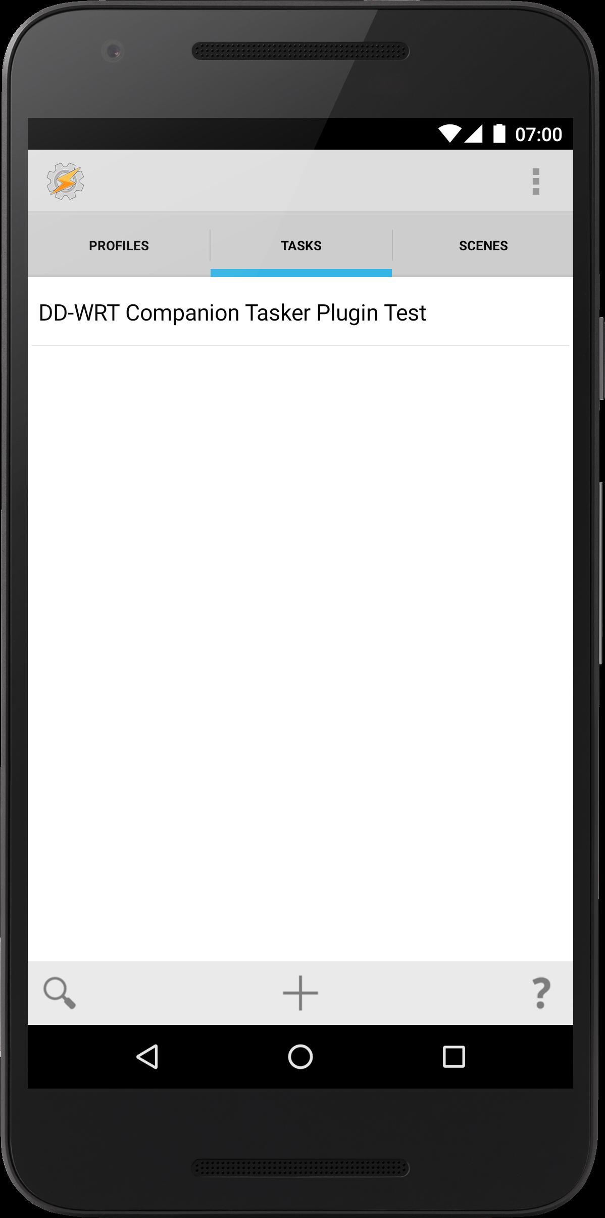 Task added to Tasker